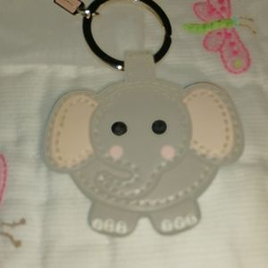 NWOT Coach elephant key ring